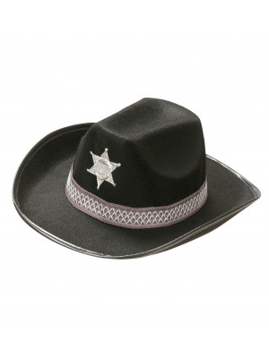 Klobuk Šerif Črn
