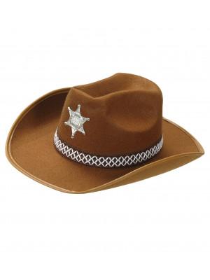 Kavbojski Klobuk za Šerifa Rjav
