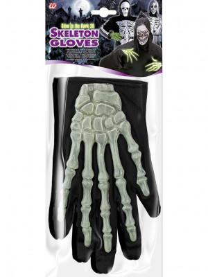 rokavice za okostnjaka 3D svetleče
