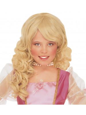 Dekliška dolga blond lasulja Barbara