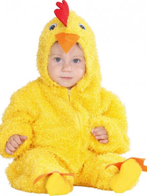 Pustni Kostum Fuzzy Piščanček Rumen