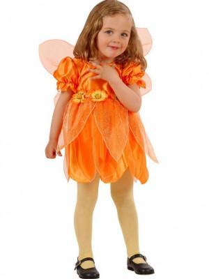 Kostumi za deklice Rožica Oranžna
