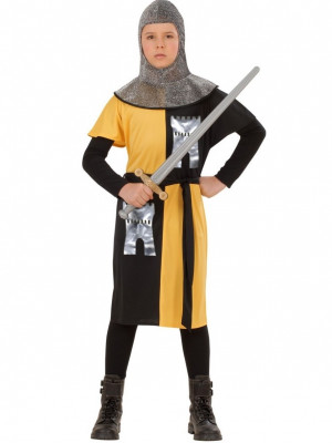 Pustni Kostum Vitez Križar Rumen