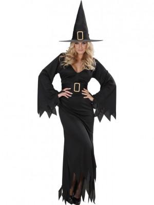 Pustni Kostum Čarovnica Elegant 1