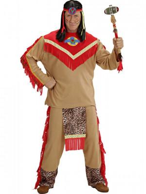 Moški Pustni Kostum Indijanec Raging Bull