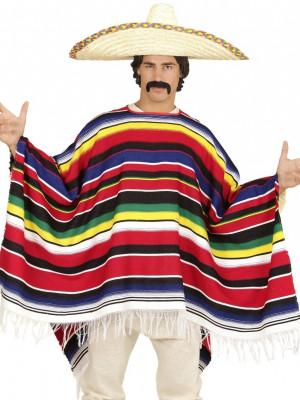Pustni Kostumi Pončo za Mehičana Delux