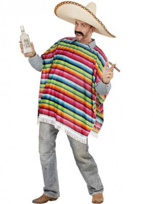Pustni Kostum Pončo za Mehičana