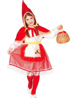 dekliški kostum za rdečo kapico