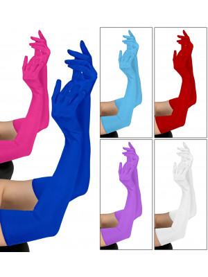 Rokavice Dolge Barvne 60 cm