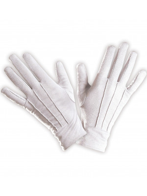 Rokavice Bombaž Bele