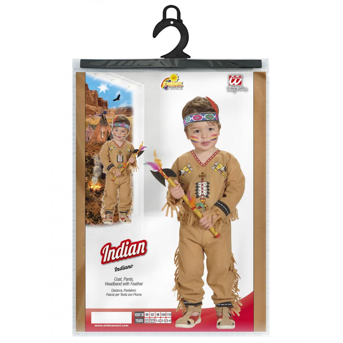 indijanec kostum za maškare otroški 4892