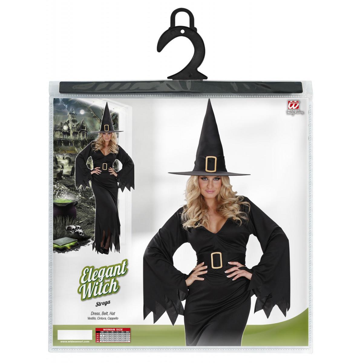 Pustni Kostum za Čarovnico Elegant